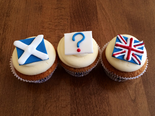 The Scottish Referendum Cupcakes