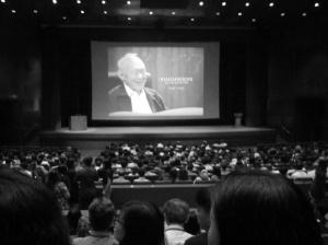 At the auditorium