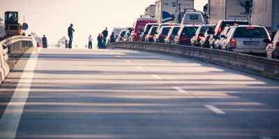 Stock image of a highway jam taken from pexels.com